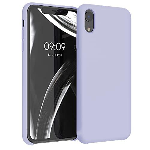 kwmobile Hülle kompatibel mit Apple iPhone XR - Handyhülle gummiert - Handy Case in Pastell Lavendel