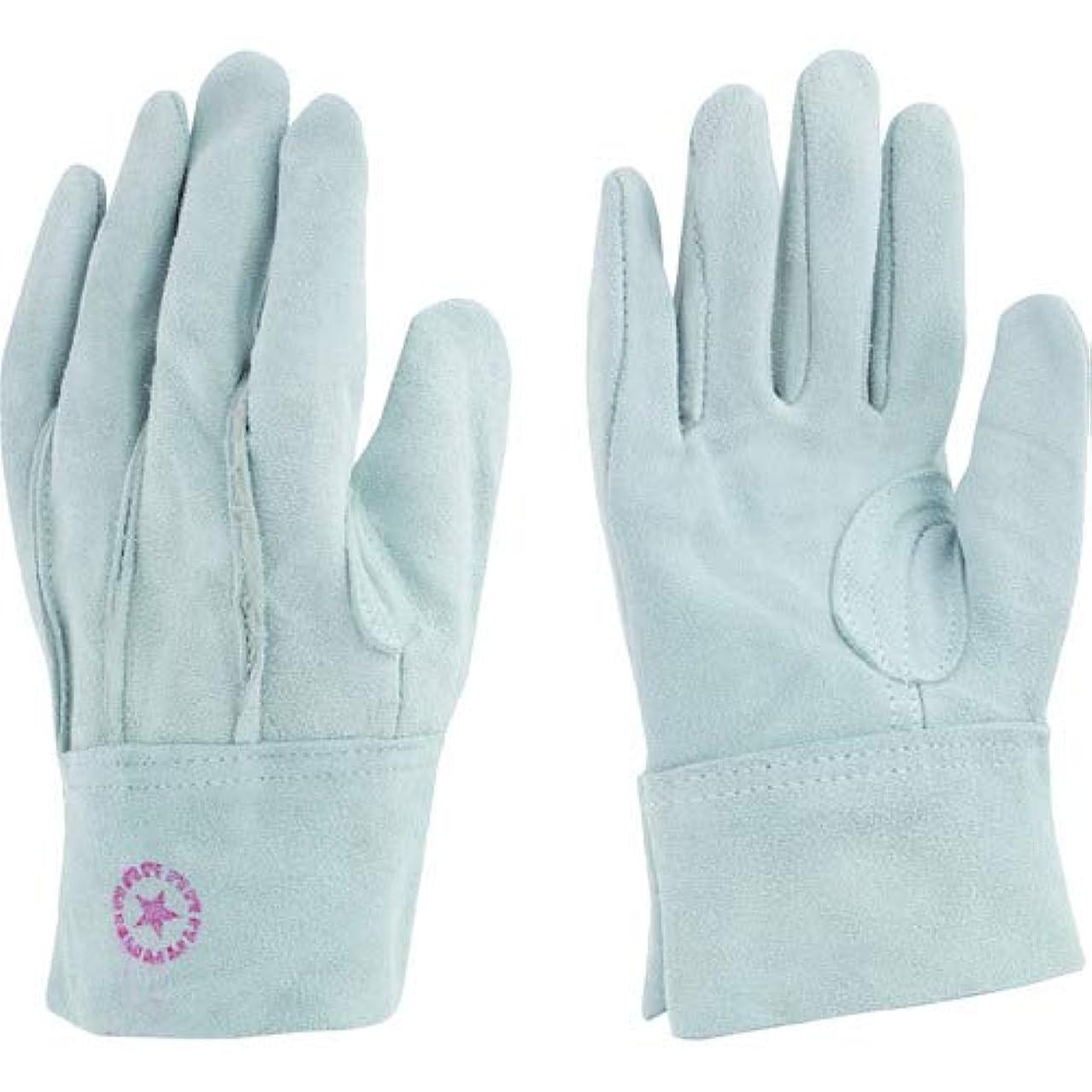旅行者賛辞撃退する東和コーポレーション 革手袋 牛床革 M-A パチ付 (外縫い) 452 フリー グレー
