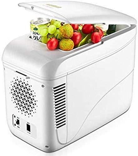 FDSZ Mini refrigerador 9 litros Coche pequeño refrigerador de Escritorio refrigerador Dormitorio Calefacción y Caja de refrigeración, refrigerador termoeléctrico portátil