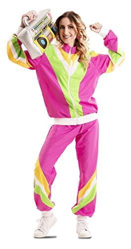 EUROCARNAVALES Disfraz de Chándal de los 80 para Mujer Talla XL