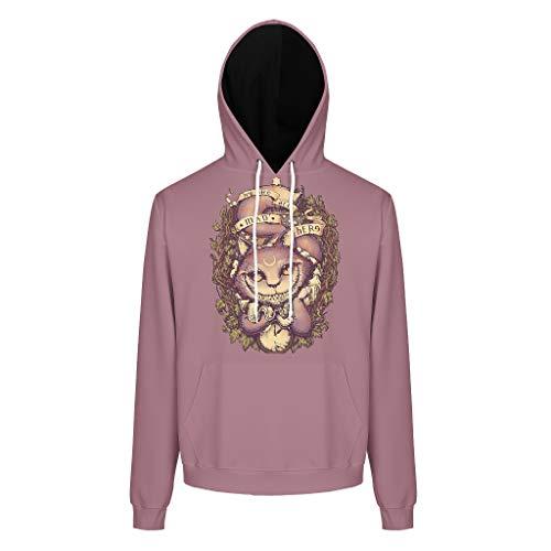 XHJQ88 Herren-Sweatshirt mit Grinsekatze-Muster, lässig, Baumwoll-Fleece, weich und gemütlich, weiß, Größe XXL