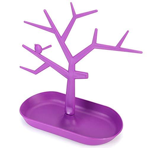 Pendientes Pulsera Show Stand Rack Desmontable Hermosa forma de rama Durable Práctico, para vestidores, armarios, para almacenar o exhibir joyas(purple)