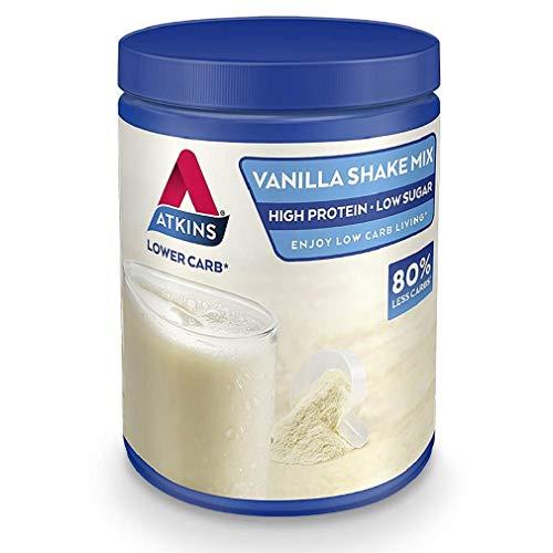 Atkins High Protein Shake Powder, Keto, Low Carb, Low Sugar, Vanilla Shake Mix, 10 Servings 370 g