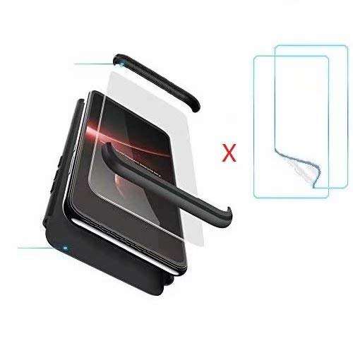Compatible Xiaomi Redmi 5A Funda(2018)Carcasa 360° ultra fina Protectora cojín+Vidrio Templado Pantalla Protector,3 in 1 PC Hard Caja Caso Skin Case Cover Carcasa para Xiaomi Redmi 5A Oro Rosa