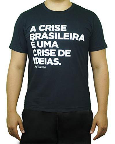 Camiseta Preta Exclusiva A crise brasileira - Jessé Souza (M)