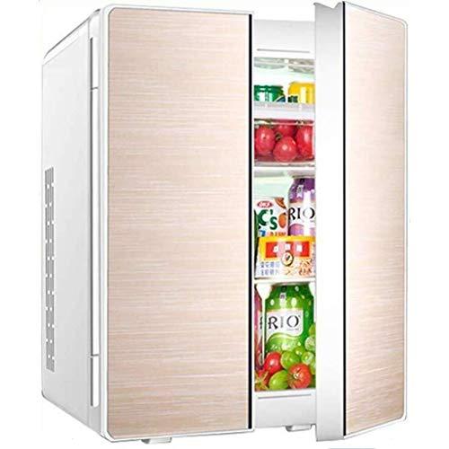 Dubbele deur, design koeling, stille desktop-minibar, 25 liter, dual core mini-autokoelkast, woonkamerkoeler en warmere autokoelkast (kleur: B)