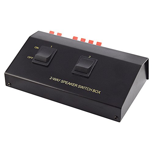 Audio Lautsprecher Umschaltbox Switch für 4 Boxen, Schwarz