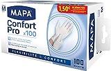 Guanti Mapa Latex Confort Pro, Confezione da 100 guanti Taglia 7 / M