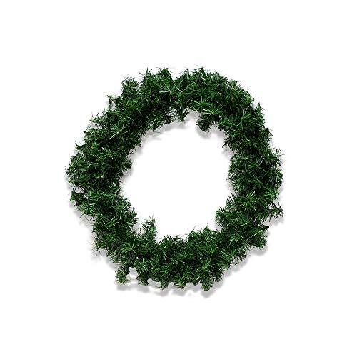 IMAR Corona Navideña Verde Pino Adorno Artificial 50 Cm Diametro Colgador de Corona para Puerta Delantera | Corona para Puerta de Navidad 50 cm