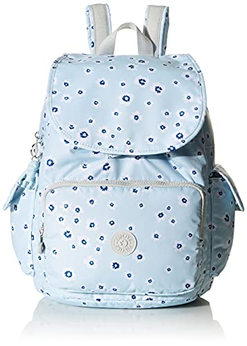 Kipling Damen City Pack Medium Backpack Rucksack, Ozean-Blumenmuster, 10.5