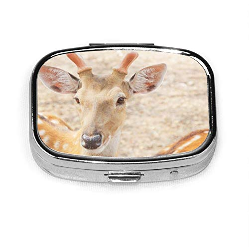 Sika Deer Fashion Square Pastillero Vitamina Medicina Soporte para tableta Cartera Organizador Estuche