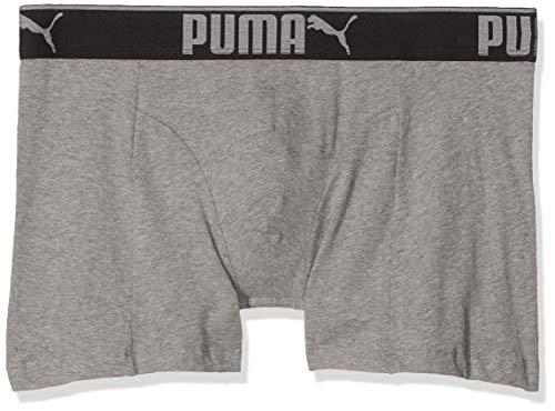 Puma Bodywear Puma 681030001 032 Herren Boxershorts 3er Pack mit Velourveredelung Komfortbund, Groesse 6, 3X grau