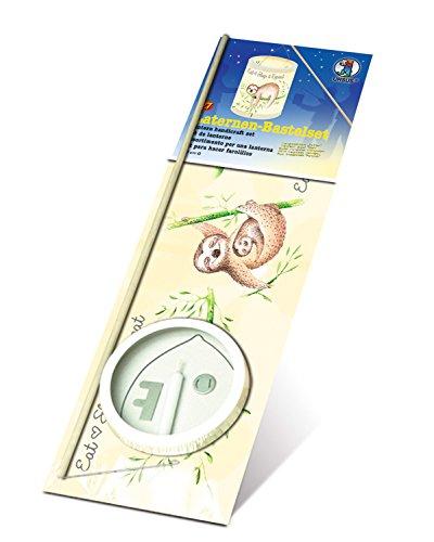 Ursus 7410000 - Laternen Bastelset, Faultier, ca. 20 x 15,3 cm, aus Transparentpapier, Set zum Erstellen von selbstgebastelten Laternen, ideal geeignet für den Laternenlauf