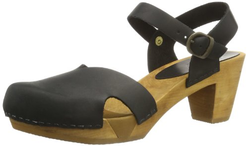 Sanita Damen Matrix Square Flex Sandalen, Schwarz (Black 2), 40 EU