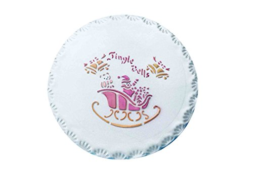 PME YT400 Jingle Bells Stencil per Cake Design, Giallo