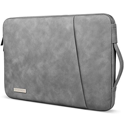 RISETECH 13 inch Laptop Sleeve with Handle PU Leather Soft Cover Case Computers Bag Compatible with 2020 M1 MacBook Air 13.3' MacBook Pro, iPad Pro, Dell XPS 13, Microsoft Surface, Pixelbook Go, ASUS