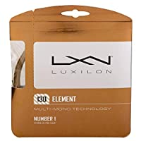 ルキシロン エレメント Element 硬式テニス ガットポリエステル ガットWRZ990105 ゲージ:1.25mm ブロンズ [並行輸入品]
