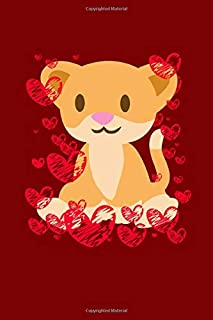 Cute Puma Hearts: Valentines Day Journal | Cute Lovely Animals With Hearts And Full Of Love Notebook Mini Notepad (6