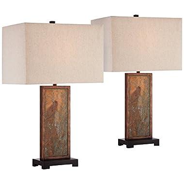 Yukon Natural Slate Table Lamp Set of 2
