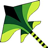 """K-MLICE Large Plane Kite for Kids and Adults 71"""" Huge Strong Beach Kite for Boys/ Girls Easy to Fly Kites for Outdoor Game/ Beach Trip with 300ft Kite String Green Kite Airplane Easy for Beginner"""
