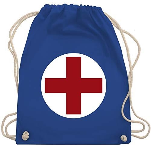 Shirtracer Karneval & Fasching - Rotes Kreuz Karneval Kostüm - Unisize - Royalblau - rucksack kostüm - WM110 - Turnbeutel und Stoffbeutel aus Baumwolle