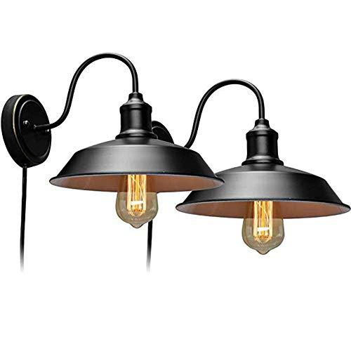 Verstelbare wandlampen zwart industriële decoratieve wandlampen van de boerderij-wand-kuiphalsslaapkamerbedhoofd-woonkamer-corridor