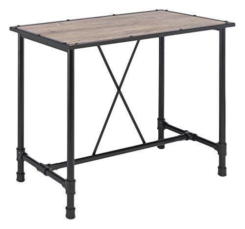 ACME Furniture 72030 Caitlin Bar Table, Rustic Oak & Black