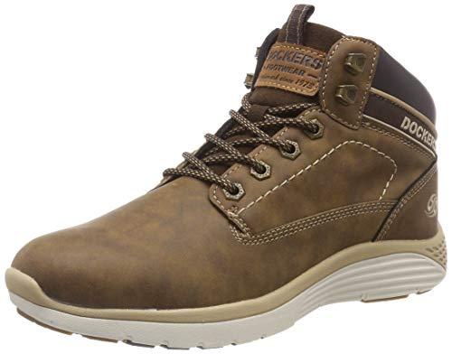 Dockers by Gerli Herren 43LR004 Hohe Sneaker, Braun (Cafe 320), 45 EU