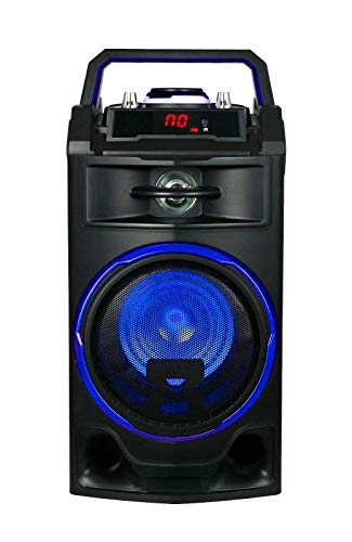 Altavoz PORTATIL Recargable Karaoke MICROFONO Incluido Colores 25W Garantia (Azul)