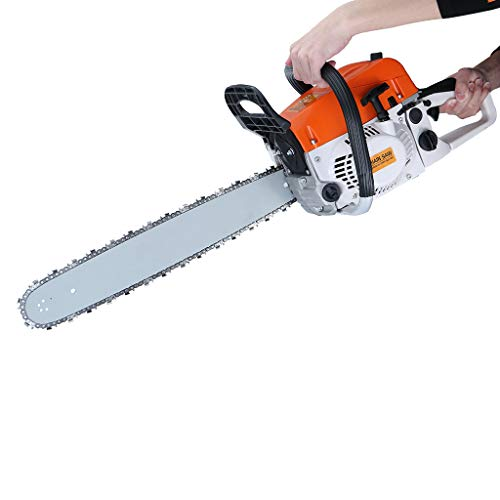 ZJS 【US in Stock】 Chainsaw,20In Bar Gasoline Chainsaw Chain Saw 52cc Engine w/Aluminum Crankcase for Farm, Garden and Ranch