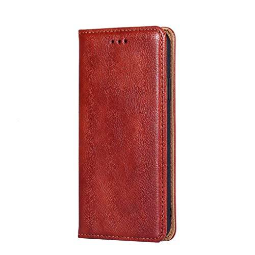 GOGME Hülle für Xiaomi Mi 10T Pro 5G, Premium PU Leder Magnetische Automatische Adsorption Brieftasche Schutzhülle Flip Handyhülle für Xiaomi Mi 10T Pro 5G, Braun