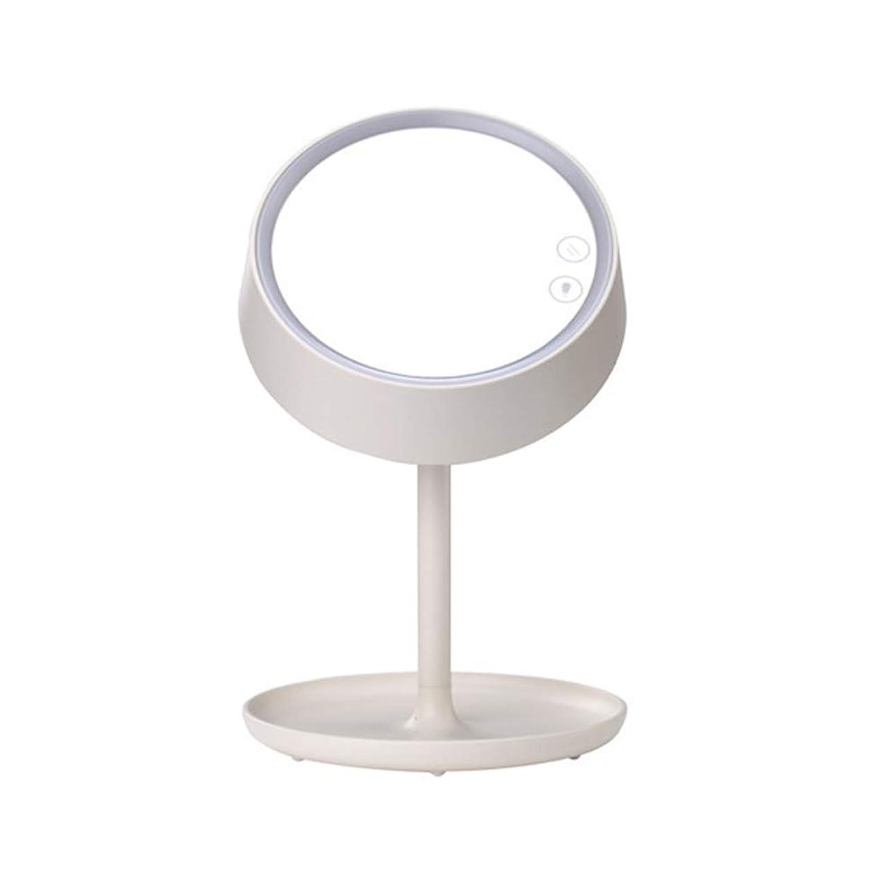 南方のアヒル二週間ライト/LED色が付いている虚栄心ミラーは接触薄暗く、USBの充満が付いているミラー/照らされた卓上の化粧品ミラーをつけます,白
