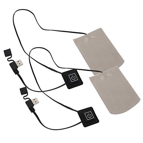 Cloudbox Almohadilla térmica eléctrica 1 par de Calcetines eléctricos de Fibra compuesta Película térmica USB Invierno Mantener Caliente Deportes al Aire Libre