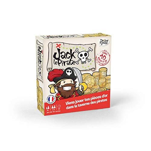 France Cartes 410445 - Juego de Cartas de Jack el Pirata con 54 Cartas y 10 Monedas de Oro [Pueden incluir Texto en francés]