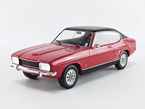 MCG Modellauto 1:18 Ford Capri MKI 1600 GT, rot/schwarz 1973 18083