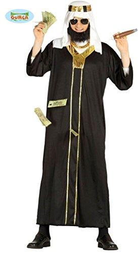 Öl Scheich Araber Karneval Motto Millionär Party Kostüm für Herren Wüste Orient Gr. M-XL, Größe:L