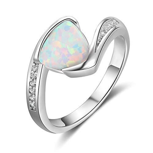 MF.CHAMA Silber Ring 925 Damen Opal Dreieck