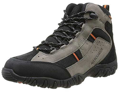 Mephisto Allrounder by SAMBOR-TEX Grey and Black Leather Outdoor Boot for Men (Waterproof) (40.5 EU)