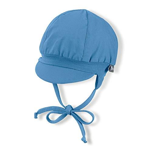 Sterntaler Ballonmütze für Jungen mit Bindebändern und Ohrenklappen, Alter: 2-3 Monate, Größe: 37, Samtblau