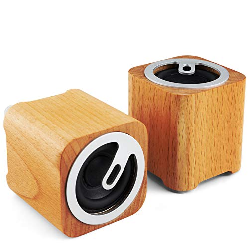 JuguHoovi Altavoz Bluetooth Portátil,Bocina Bluetooth, Altavoz Bluetooth Inalámbrico Altavoz Estéreo Manos Libres para Llamadas Regalo Retro Mini Altavoz Bluetooth para Casa Partido Película - 2 Pack