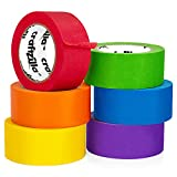 New: Craftzilla Colored Masking Tape – 6 Roll Multi Pack – 180 Feet x 1 Inch of Colorful Craft Tape – Vibrant Rainbow Colored Painters Tape – Great for Arts & Crafts, Labeling and Color-Coding