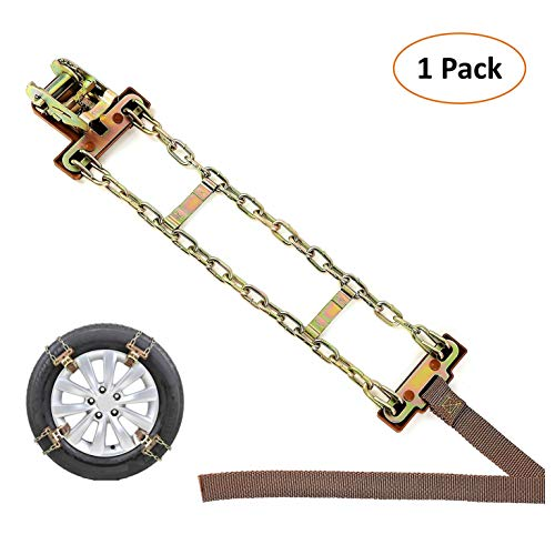 BESTWELL4U Tire Chains/Snow Chains for SUV/Truck/RV/ATV with Tire Width 205-275mm/8-10.8',...