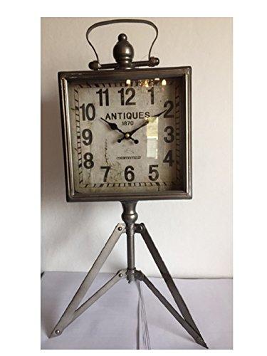 Countryfield Tafelklok Antiques staande klok klok decoratieklok driepoot statief hoekig