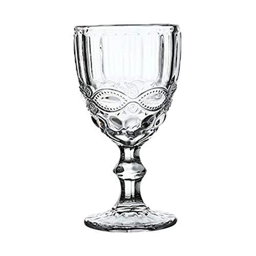 shiqi Copas de Vino de Alivio Beber Copa Boda Banco de Vino Copa de Vino Retro Diamante Champagne Jugo Jugo Bebida Cubileta 240ml 8oz (Capacity : 240ml, Color : Pattern Purple)