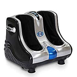 JSB HF05 Leg & Foot Massager for Pain Relief with Human Hands Like Pressing & Vibration Reflexology (AC Powered)