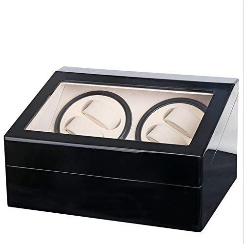 Caja expositora para relojes de 4 + 6 relojes, de madera, color negro