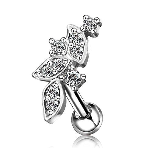 OUFER 316L Surgical Steel Cluster Vine Cartilage Earrings Stud Tragus Earrings Helix Earrings Piercing