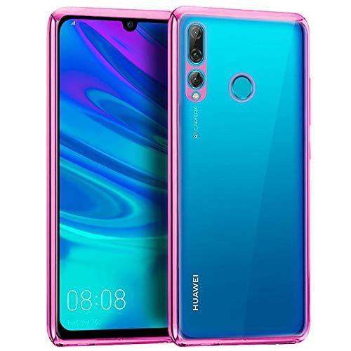 iGlobalmarket Huawei P Smart Plus (2019) / P Smart (2019) / Honor 10 Lite / 20 Lite, Funda Trasera, Borde Rosa