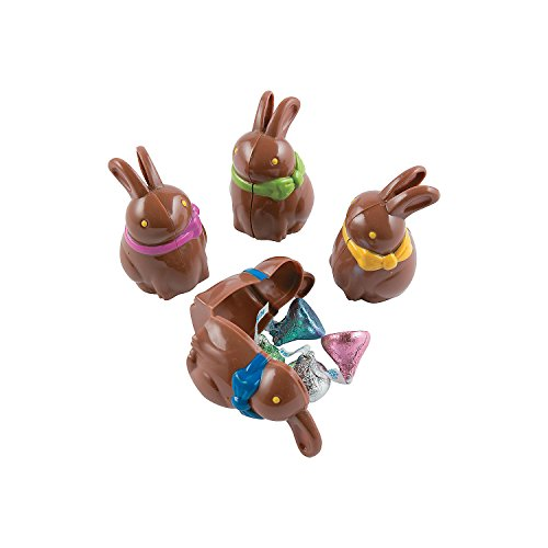 Chocolate Bunny Shaped Eggs for Easter - 12 Pieces