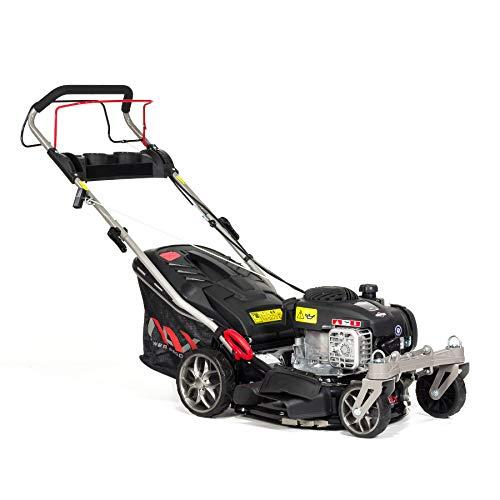 NAX POWER PRODUCTS 1000S Motor Briggs & Stratton Series 125 cm3 Mähbreite 42cm Fangkorb 45l Gehäusereinigungssystem Cortacésped de Gasolina con accionamiento, Negro, NAX1000S 450E 42 cm